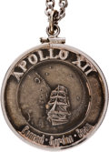 Explorers:Space Exploration, Apollo 12 Flown Silver Robbins Medallion, Serial Number 69, Originally from the Personal Collection of Mission Lunar Module Pi...