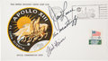 """Explorers:Space Exploration, Apollo 13 Crew-Signed """"Type One"""" Insurance Cover Directly from thePersonal Collection of Mission Commander James Lovell, with..."""
