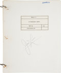 Explorers:Space Exploration, Apollo 13 Training-Used LM Rendezvous Charts Book Directly from the Personal Collection of Mission Commander James...