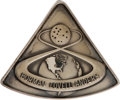 Explorers:Space Exploration, Apollo 8 Flown Silver Robbins Medallion, Serial Number 70, Directly from the Personal Collection of Mission Command Module Pil...