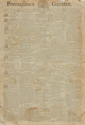 Books:Periodicals, [Early Printing, Newspapers]. Single Issue of Porcupine'sGazette. Vol. II, No., 402. June 20, 1798. Philadelphi...