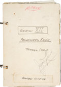 Explorers:Space Exploration, Gemini 12 Training-Used Procedures Master Book Directly fromthe Personal Collection of Mission Commander James Lo...
