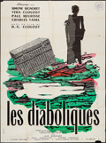"Movie Posters:Foreign, Les Diaboliques (Cinedis, R-1960s). French Grande (47"" X 63""). Foreign.. ..."