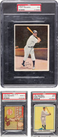 Baseball Cards:Lots, 1936-1943 Hank Greenberg PSA Graded Trio (3). ...