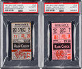 Baseball Collectibles:Tickets, 1961 Roger Maris 60th and 61st Home Run Game Ticket Stubs (2)....