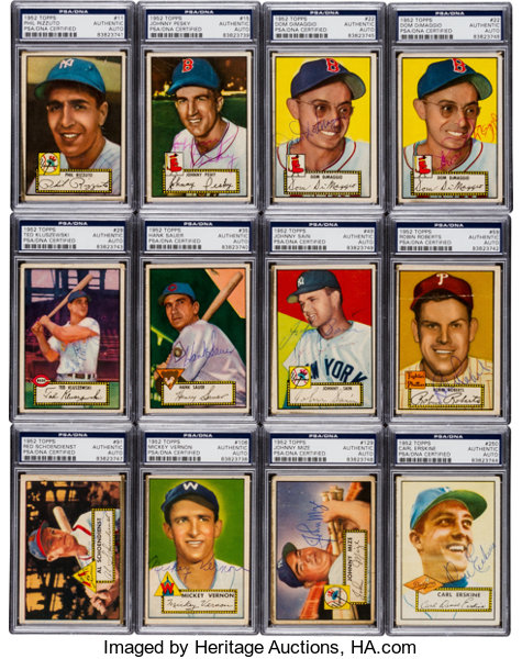 Signed 1952 Topps Baseball Card Collection 77 Autographs