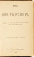 Books:Periodicals, [Bound Periodicals, Mormonism]. Susa Young Gates, editor. Bound Collection of The Young Woman's Journal, Vol...