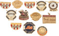 Baseball Collectibles:Pins, 1970's-90's World Series Press Pins Lot of 12....
