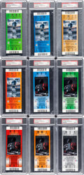 Football Collectibles:Tickets, 2006 & 2009 Super Bowl XL and XLIII Full Tickets PSA Mint 9 Lot of 9 - Steelers Championships....