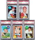 Baseball Cards:Lots, 1969 Topps Baseball PSA Gem Mint 10 Lot (5) - All Pop Three. ...