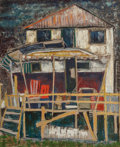 Texas:Early Texas Art - Modernists, William Lewis Lester (American, 1910-1991). Porch, 1950. Oilon masonite. 36 x 29-1/2 inches (91.4 x 74.9 cm). Signed, t...