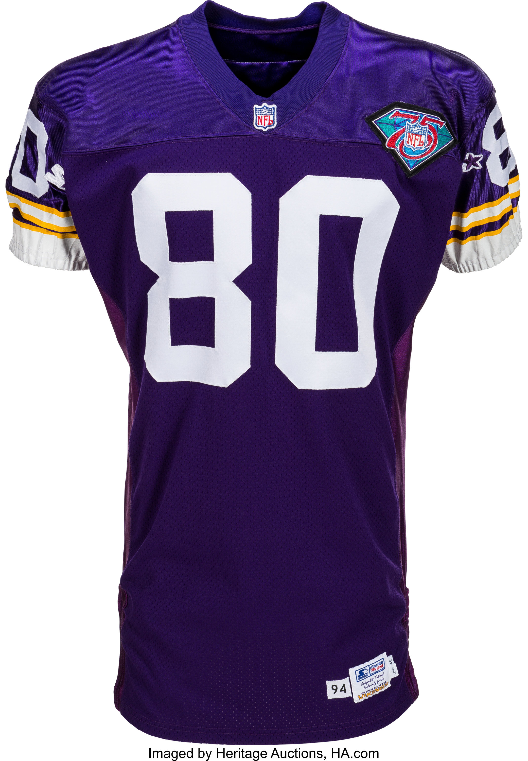 huge selection of dfe10 d463d 1994 Cris Carter Game Worn, Signed Minnesota Vikings Jersey ...