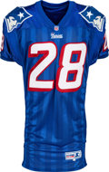Football Collectibles:Uniforms, 1995-97 Curtis Martin Game Worn New England Patriots Jersey....