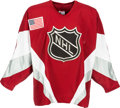 Hockey Collectibles:Uniforms, 1998 Mike Modano Game Worn, Signed All Star Game Jersey....
