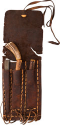 Edged Weapons:Other Edged Weapons, Spectacular Buffalo Skinning Kit with Two Knives,Whetstone, and Bone Saw,...