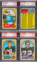 Baseball Cards:Lots, 1970 Topps Football PSA Gem Mint 10 Low Pop, Quartet (4). ...