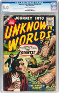 Golden Age (1938-1955):Horror, Journey Into Unknown Worlds #36 (Atlas, 1955) CGC VG/FN 5.0 Creamto off-white pages....