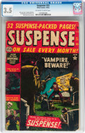 Golden Age (1938-1955):Horror, Suspense #23 (Atlas, 1952) CGC VG- 3.5 Off-white to white pages....