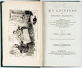 Books:Literature Pre-1900, [Marietta Holley]. My Opinions and Betsey Bobbet's.Hartford, CT: American Publishing Company, 1873. . ...