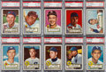 Baseball Cards:Lots, 1952 Topps Baseball PSA NM-MT 8 Collection (10). ...
