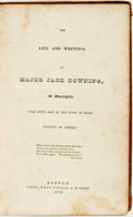 Books:Literature Pre-1900, [Seba Smith]. The Life and Writings of Major Jack Downing, ofDowningville, Away Down East in the State of Maine. Bo...