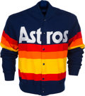 Baseball Collectibles:Others, 1980's Nolan Ryan Game Worn Houston Astros Sweater Jacket....