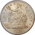 Trade Dollars, 1875 T$1 Type Two Reverse MS64 PCGS. CAC....