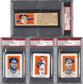 Baseball Cards:Lots, 1941 Wheaties Champs/USA & 1952 Wheaties PSA Graded Collection (4). ...