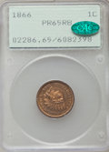 Proof Indian Cents, 1866 1C PR65 Red and Brown PCGS. CAC....
