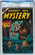 Golden Age (1938-1955):Horror, Journey Into Mystery #15 (Marvel, 1954) CGC VG+ 4.5 Off-white towhite pages....