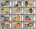 Baseball Cards:Sets, 1956 Topps Baseball Complete Set (340) Plus Checklists. ...