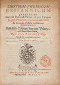 Books:Metaphysical & Occult, [Elias Ashmole, editor]. Theatrum Chemicum Britannicum.Containing Severall Poeticall Pieces of our Famous EnglishPhilo...