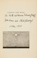 Books:Literature 1900-up, Anne Morrow Lindbergh. Listen! The Wind. With forewordand map drawings by Charles A. Lindbergh. New York: Harco...