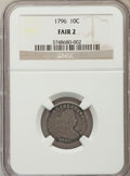 Early Dimes, 1796 10C JR-6, R.3, Fair 2 NGC....