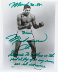 Boxing Collectibles:Autographs, Circa 1985 Muhammad Ali Signed Photograph with Life Inscription....