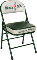 Olympic Collectibles:Autographs, 1996 Atlanta Olympic Games Stadium Chair. ...