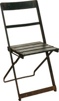 Baseball Collectibles:Others, 1930's-50's Chicago Cubs Wrigley Field Stadium Chair. ...