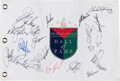 Golf Collectibles:Autographs, PGA Hall of Famers Multi Signed Flag....