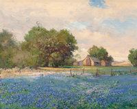 Robert William Wood (American, 1889-1979) Lupin Oil on canvas 16 x 20 inches (40.6 x 50.8 cm)