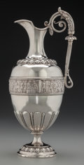 Silver Holloware, British:Holloware, An Elkington & Co. Victorian Silver Claret Jug, Birmingham,England, circa 1876. Marks: (lion passant), (anchor), (duty mark...