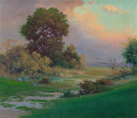 Robert William Wood (American, 1889-1979) Sun Rising Oil on canvas 24-1/4 x 28 inches (61.6 x 71