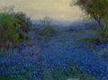 Texas:Early Texas Art - Impressionists, Julian Onderdonk (American, 1882-1922). Bluebonnets inSpring. Oil on canvas. 12 x 16 inches (30.5 x 40.6 cm). Signedlo...