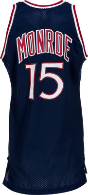 buy online a6072 748ab 1979-80 Earl Monroe Game Worn New York Knicks Jersey ...