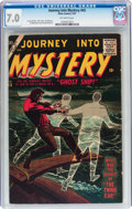 Silver Age (1956-1969):Horror, Journey Into Mystery #43 (Marvel, 1957) CGC FN/VF 7.0 Off-whitepages....