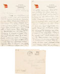 Basketball Collectibles:Others, 1936 James Naismith Handwritten Letter to His Wife with Signatureon Envelope....