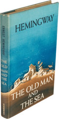 Books:Literature 1900-up, Ernest Hemingway. The Old Man and the Sea. New York: CharlesScribner's Sons, 1952. First edition, in the first stat...