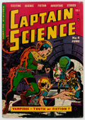 Golden Age (1938-1955):Science Fiction, Captain Science #4 (Youthful Magazines, 1951) Condition: VG+....