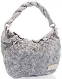 Louis Vuitton Limited Edition Pale Gray Monogram Leather Olympe Nimbus Bag Excellent Condition 1