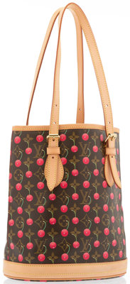 Louis Vuitton Monogram Canvas Cerises Bucket Bag by Takashi Murakami Very Good to Excellent Condition
