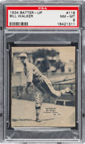Baseball Cards:Singles (1930-1939), 1934-36 R318 Batter-Up Bill Walker #116 PSA NM-MT 8 - Pop Four,None Higher....